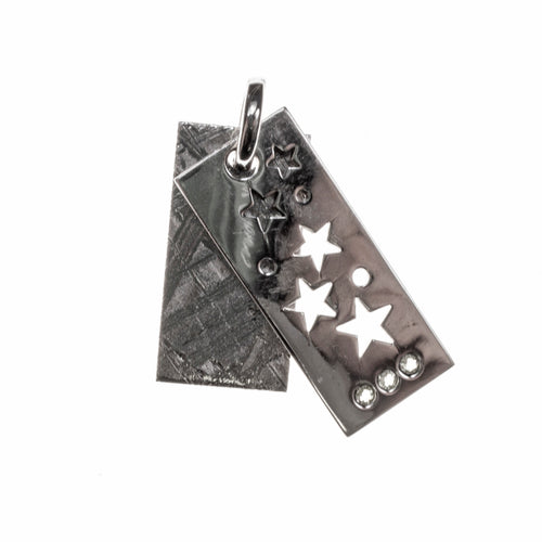 Meteorite Star Cutout Rectangle Tags Pendant