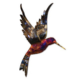 Copper Dripped Hummingbird Wall Art