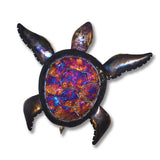 Large Copper Dripped Sea Turtle Wall Art