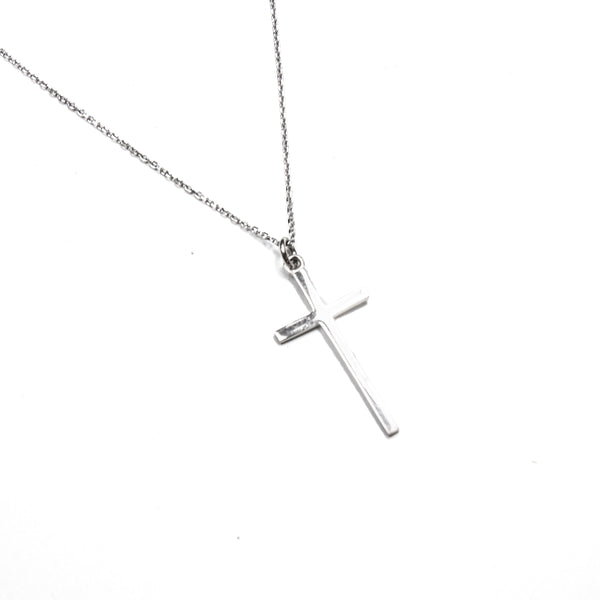SS Simple Cross Necklace