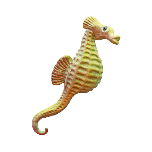 Ceramic Wall Art Seahorse Yellow