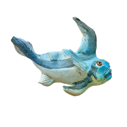 Ceramic Wall Art Blue Fish