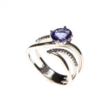 14KW Tanzanite Open Bypass Ring