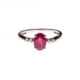 14KW Ruby Simple Band Ring