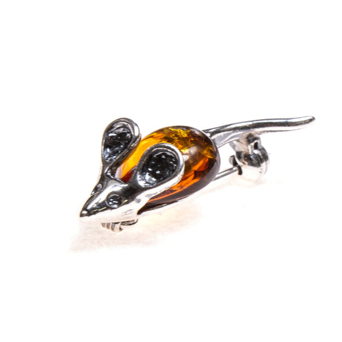 SS Amber Mouse Pin