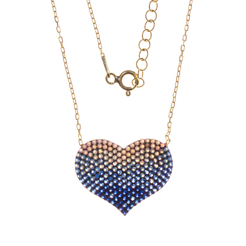 Vermeil Crystal Heart Necklace