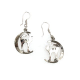 SS Cat on the Moon Earrings