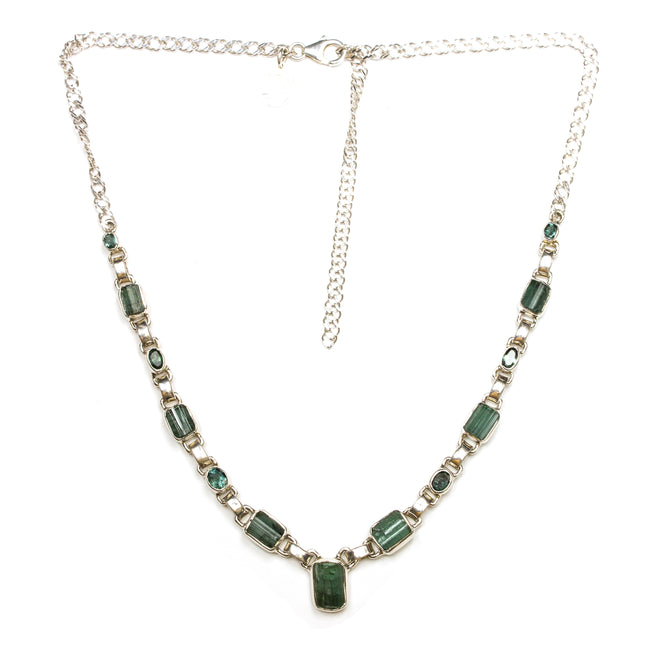 SS Green Tourmaline Necklace
