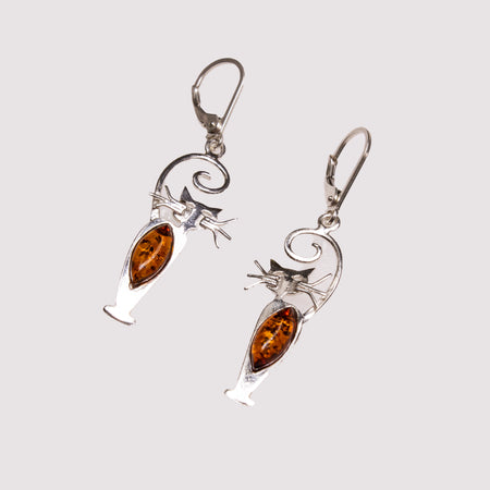 SS Amber Bat Earrings