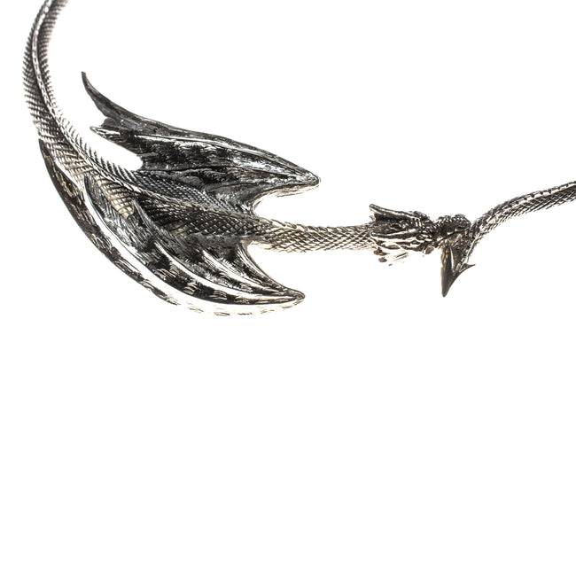 Sterling Silver Dragon Hinge Collar Necklace