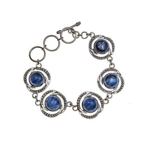 SS Kyanite Linked Circle Bracelet