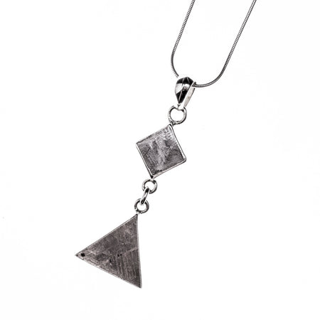 Meteorite Rectangle Pendant