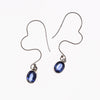 SS Wavy Ear Wire Kyanite Earrings