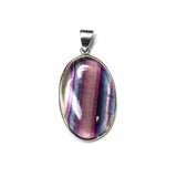 SS Striped Fluorite Pendant