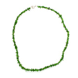Nickel Plated Chromium Diopside Chip Bead Necklace