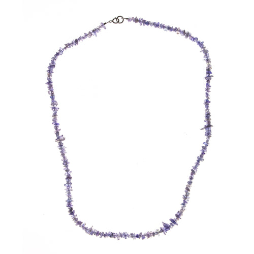 Nickel Plated Tanzanite Chip Necklace