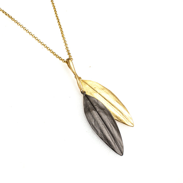 Bronze Cordyline Leaf Necklace