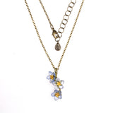 Bronze Forget Me Not Flower Necklace