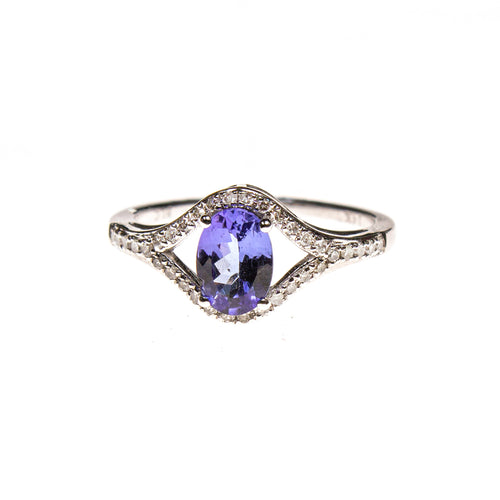 14KW Tanzanite Split Ring