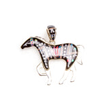 SS Night Sky Horse Inlay Pendant