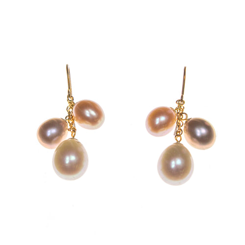 14k Multi-Color Pearl Earrings