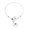 Bubbles & Swirls Memory Wire Necklace