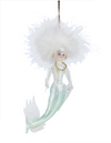 Art Glass Green Mermaid Lady Ornament