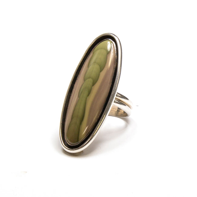 SS Vintage Imperial Jasper Ring Size 8.75