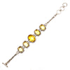 SS 5 Faceted Citrine w/ Filigree Toggle Bracelet