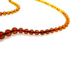 SS Gradated Warm Amber Faceted Bead Necklace