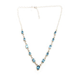 SS Blue Topaz Link Necklace