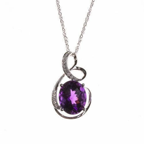 14K Amethyst Twist Necklace