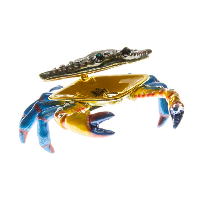 Colorful Crab Cloisonné Box