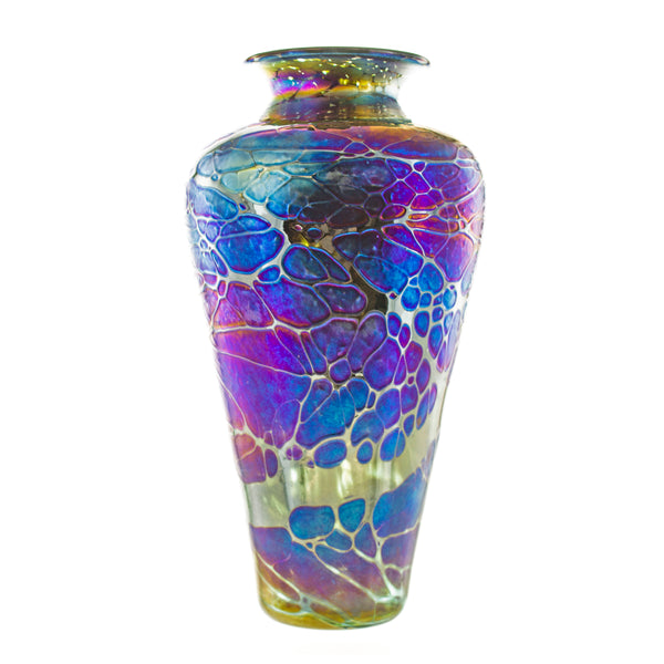 Art Glass Spider High Shoulder Vase
