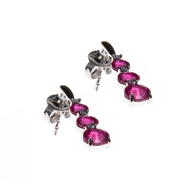 14K Ruby Gradient Drop Earrings