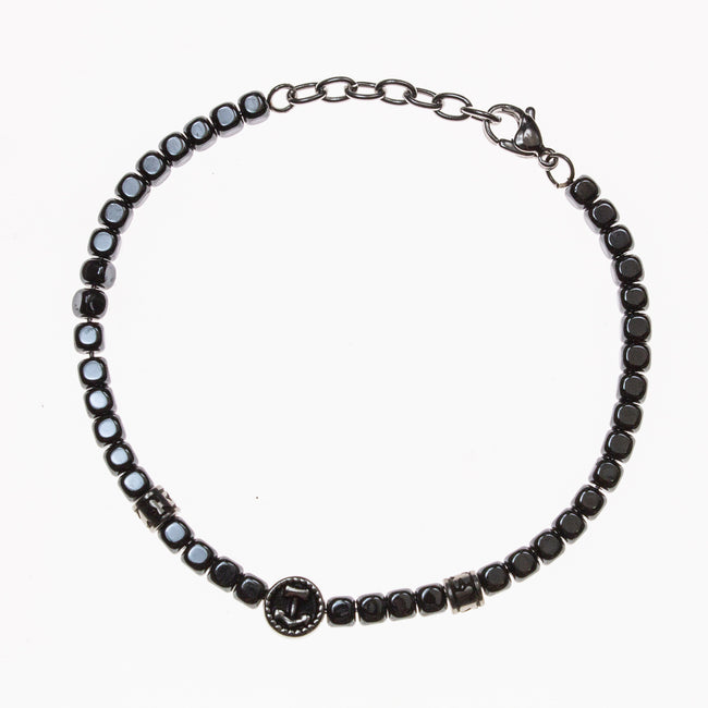 Stainless Steel Hematite Nautical Bracelet