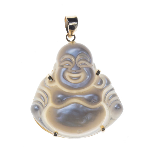 14K Mother of Pearl Buddha Pendant