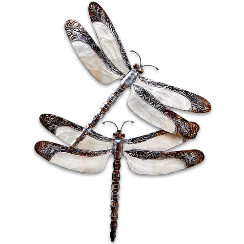 Dragonfly Couple Capiz Shell Wall Art