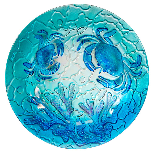 Round Glass Crab Plate