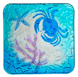 Square Glass Crab Plate
