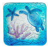 Square Glass Sea Turtle Plate