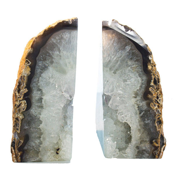 Agate Bookends Natural Color