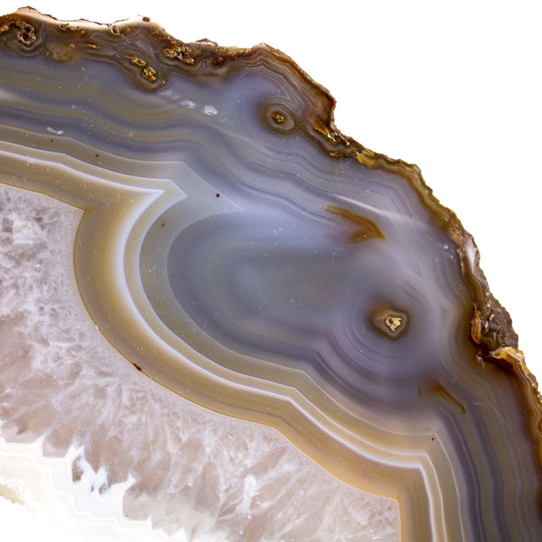 Agate Slab with Crystal on a Stand