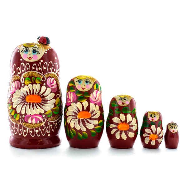 Russian Nesting Doll Lady with Ladybug