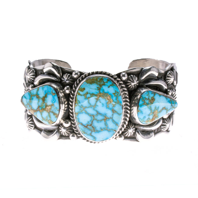 Sterling Silver Turquoise Navajo Cuff Bracelet