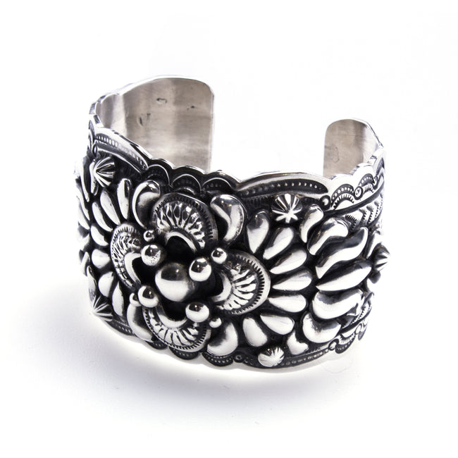 Sterling Silver Old Fashioned Navajo Cuff Bracelet
