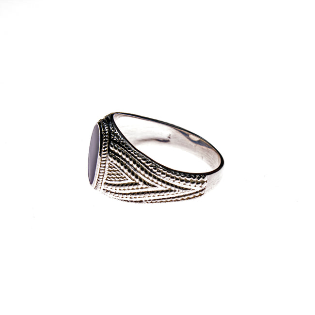Sterling Silver Black Resin Ring