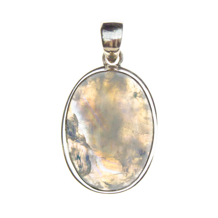 Sterling Silver Abalone Shell Crab Necklace