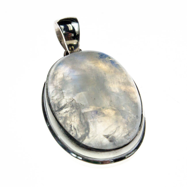 Sterling Silver Rainbow Moonstone Pendant