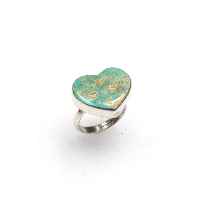 SS Royston Turquoise Heart Ring (Size 7 3/4)